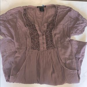 Charlotte Russe Peasant Purple Dress